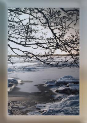 Балтийский берег * 3 балтика берег залив зима снег