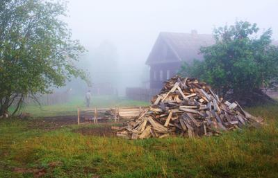 С добрым утром, Россия ... утро туман деревня