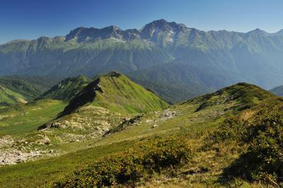 Вид с горы Ачишхо горы Ачишхо высота природа пейзаж альпийские луга альпика