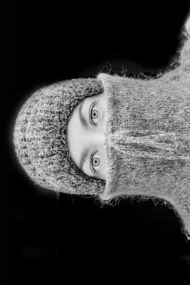 *** зима шапка глаза