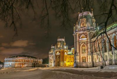 Царицыно ночью Большой Дворец Царицыно ночная москва