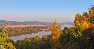 *** утро осень река берега даль