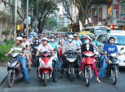 Мотобайкеры Сайгона - красавцы! Сайгон Хошимин Вьетнам дорога мотобайки мотобайкеры водители вьетнамцы байки мотоциклы движение улица город