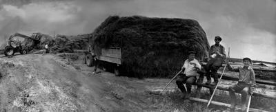 Ожидание грозы 1990 год*** СССР деревня сено сельхозработы ностальгия