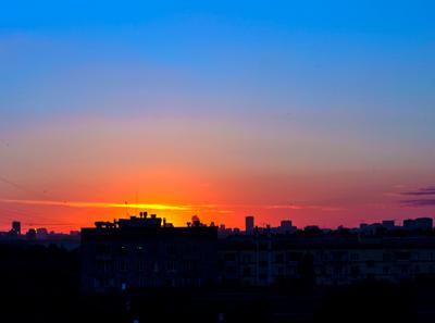 *** закат город