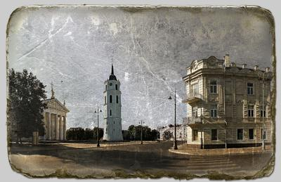 Па вулачках старага Вiльна Вшльнюс ратуша Литва