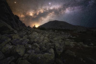 Ночь на хребте Нургуш Урал горы ночь Нургуш