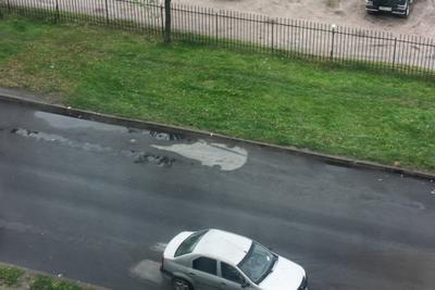 Музыкой навеяло СПБ дождь след асфальт музыкальный_инструмент