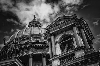 Исаакиевский собор Город архитектура черно-белое