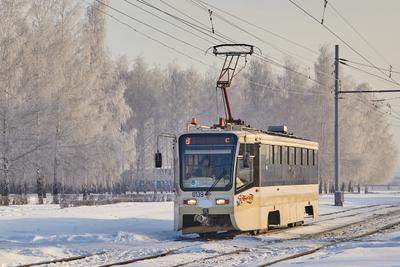Однажды зимой трамвай зима снег