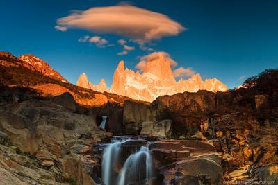 Корона Патагонии Патагония Аргентина Фитц Рой горы рассвет