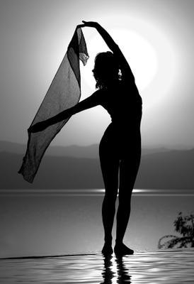 Жемчужина Мертвого Моря Иордания, Мертвое море, закат, девушка, платок, красота