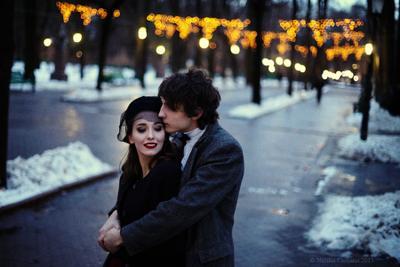 Вечерняя portrait couple evening romance love man woman together