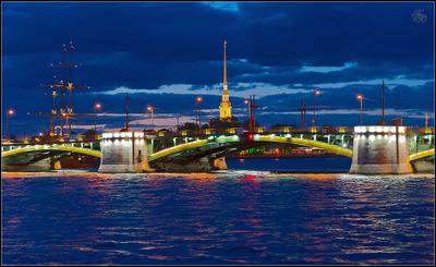 Простор меж небом и Невой... Петербург Жосс Бомон Малая Нева Биржевой мост