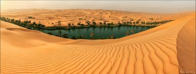Пустыня, что скрывает родники. ливия пустыня сахара панорама оазис озеро