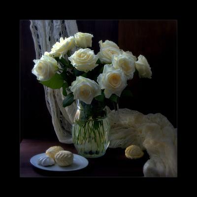 Розы и зефир