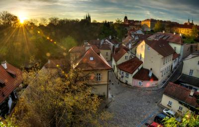 Утро Пражского града. Прага утро старый город солнце