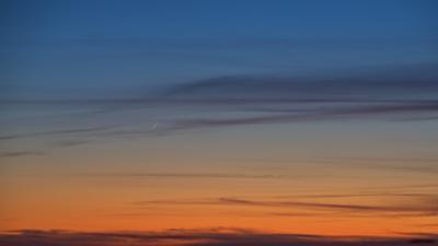 Супертонкий серп новолуния 13.04.21 - видимость ОДИН процент новолуние тонкий серп фаза луны луна в облаках омск