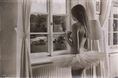 Перекур... балерина гимнастка девочка ню эротика обнаженная голая танцы