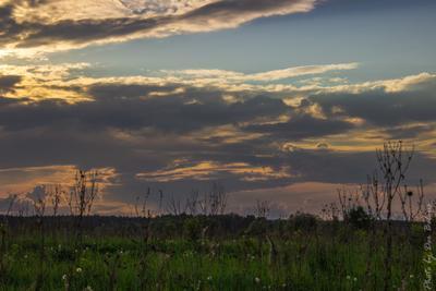 Гроза Весна природа закат пейзаж гроза