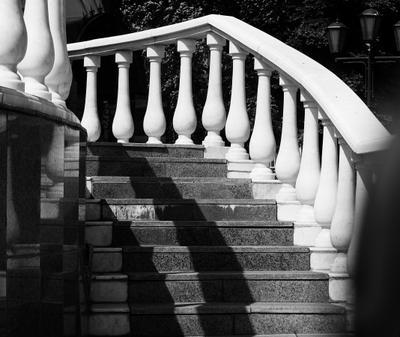 Фотоэтюд.   Лестница и балюстрада лестница балюстрада этюд монохром