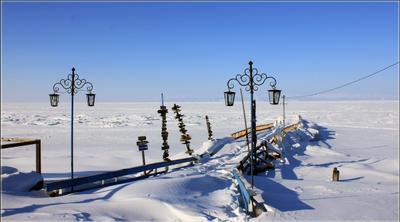 Причал в ожидании... Байкал причал зима Хакусы лёд