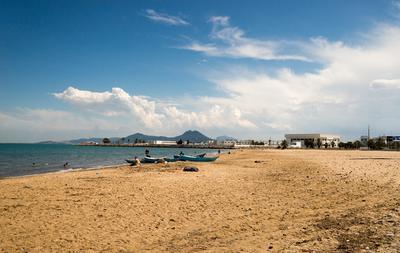 Тунис тунис море пляж песок отдых путешествие облака волны небо