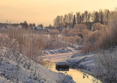 У источника Нижне-Ивкино источник зима