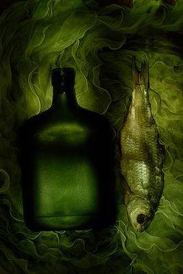 рыбный вобла бутылка зеленый