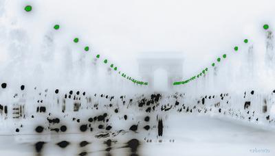 Другая реальность.. Париж  Paris Les_feux_verts_sur_les Champs_Elysées vakomin