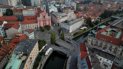 Tromostovje Словения Slovenija Любляна Ljubljana Тройной мост Tromostovje Любляница Ljubljanica