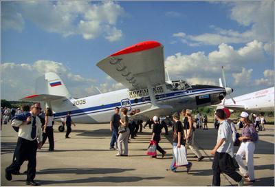 Ан-3Т Ан-3Т авиация самолет стоянка Жуковский 2001