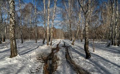 зимний пейзаж Южный-Урал