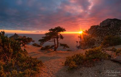 Красивый закат был вчера в Новом Свете. НовыйСвет Судак Крым