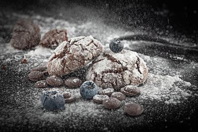 Печеньки Фуд-фото печенье ягоды кухня еда кондитерские изделия