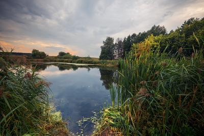 Сентябрь... Осень сентябрь озеро