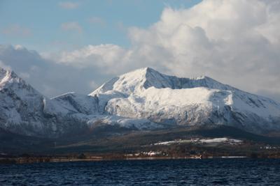 Первый снег Норвегия