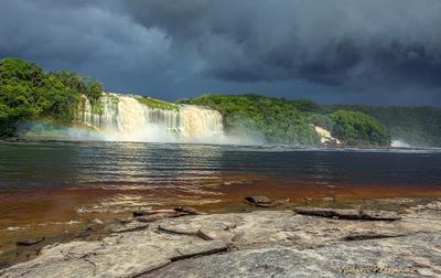 Перед грозой Водопад Венесуэла латинская америка гроза буря река логуна канайма туча дождь южная