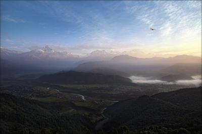 Вид на массив Аннапурна Непал, Аннапурна, Annapurna, Sarangkot, горы