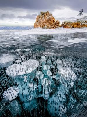 Прощальный взгляд на Шаманку. Байкал Бурхан Шаманка малое море пузыри