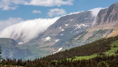 Перевал Montana Glacier National Park Монтана