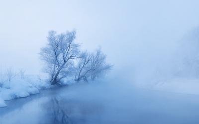 Морозное утро на реке Иж
