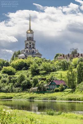 Колокольня Борисоглебского монастыря в Торжке храм церковь колокольня архитектура храмы Торжок