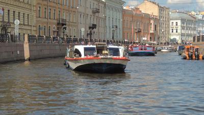 Пробки на Фонтанке 7 баллов фонтанка кораблик река питер
