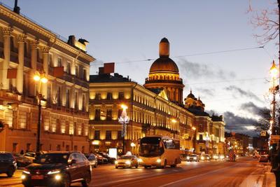 Очарование ночного Питера Санкт-Петербург Питер ночь подсветка освещение Исаакиевский собор