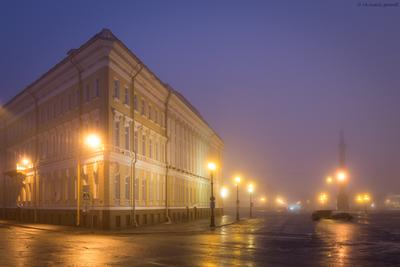 *** россия петербург санкт-петербург санктпетербург утро дворцовая площадь мойка дом фонари