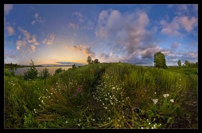 Благодатное лето 2 Урал, озеро, Иртяш, разнотравье, вечер, закат, благоухание