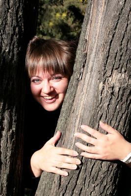 Олька парк девушка осень