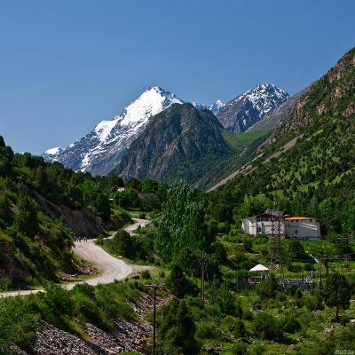 Аламединское ущелье Киргизия, горы, ущелье