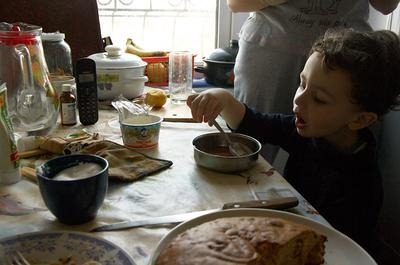 Завтрак жанр, завтрак, мальчик